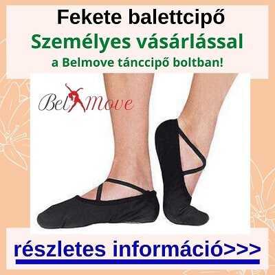 Fekete balettcipőt vásárolhatsz több méretben és fazonban a boltban