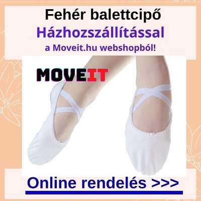 Fehér balettcipőt rendelhetsz több méretben és fazonban a webshopban