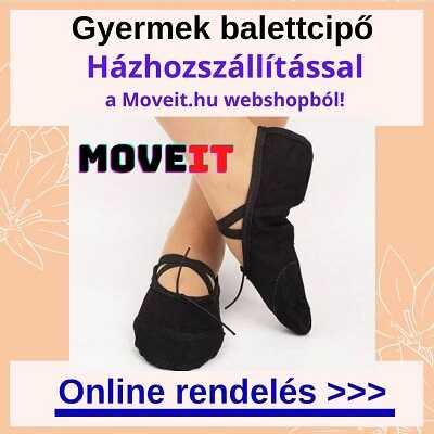 Gyermek balettcipő online rendelés, több méretben és fazonban