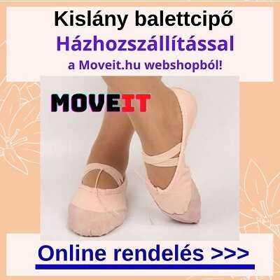 Kislány balettcipő vásárlás online, több méretben és fazonban