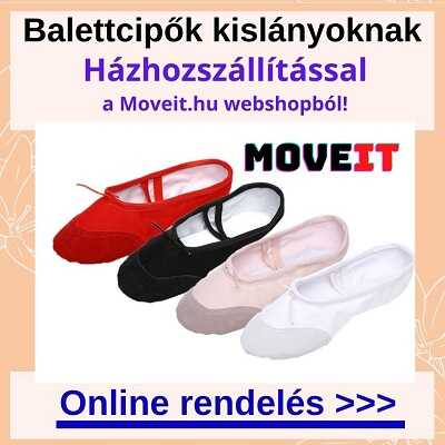 Balettcipő kislányoknak rendelés online, több méretben és fazonban