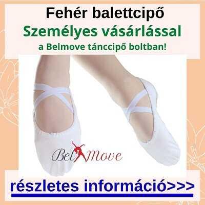 Fehér balettcipőt vásárolhatsz több méretben és fazonban a boltban