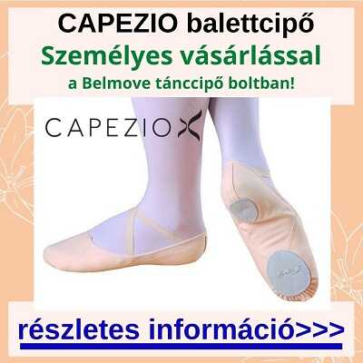 Capezio balettcipőt vásárolhatsz több méretben és fazonban a boltban