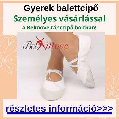 Gyerek balettcipő vásárlás a boltban, több méretben és fazonban