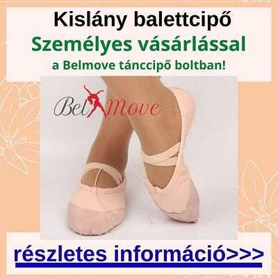 Kislány balettcipő vásárlás a boltban, több méretben és fazonban