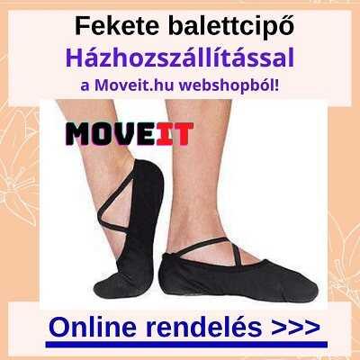 Fekete balettcipőt rendelhetsz több méretben és fazonban a webshopban